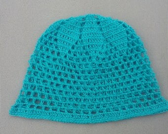 crochet hat boys hat cotton hat summer hat gift for birthday blue hat crochet newbor hat crochet baby hat