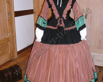 19th century Crinolines day dress victorian crinoline day gown southern old style gown 36/38