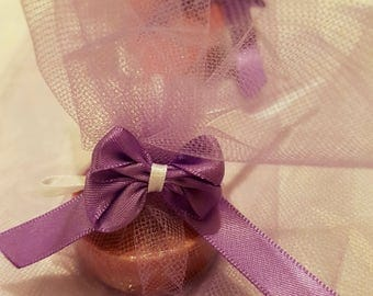 Pack of 5 Wedding favour soap