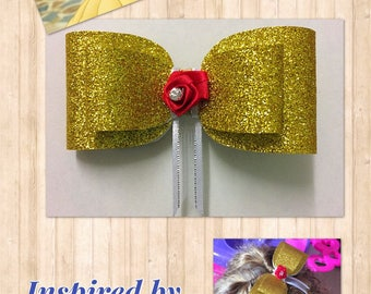 Belle (Beauty & the Beast) Inspired Hair Bow