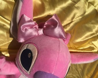 Pink Bow with Elastic Headband