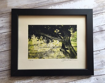 Wall Art - Original Etching - Tree and Vine Collage