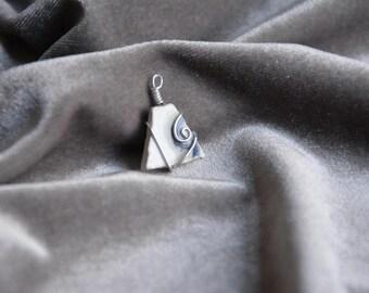 Porcelain necklace pendant