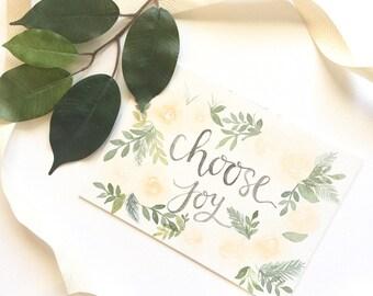 Original watercolor florals + hand-lettering