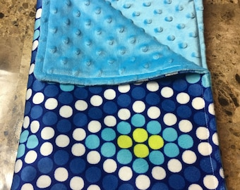 Geometric Diamond and Circle with Blue Cuddle Dots