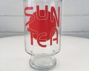 Vintage Large Sun Tea Glass