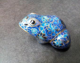 Vintage Cloisonne Frog