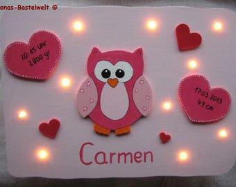 Wall lamp Pink Pink OWL