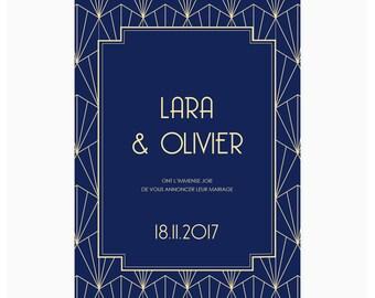 Wedding invitations - Art Deco