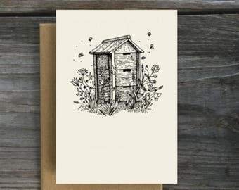 Set of Greeting Cards - A Bee's House