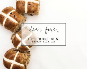 Hot Cross Buns Easter Photo Flat Lay