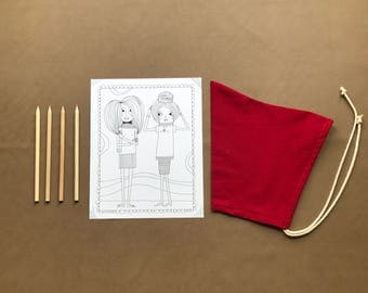 Pixie Bonnet // Red Riding-hood // Pull String