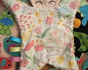 Baby taggie blanket comforter doll CE tested baby shower new baby gift