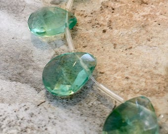 Fluorite Faceted Briolettes