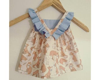 Fox Top and diaper cover set 3-6m