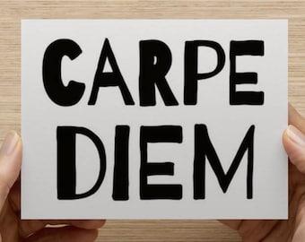 Carpe Diem Note Card With Envelope