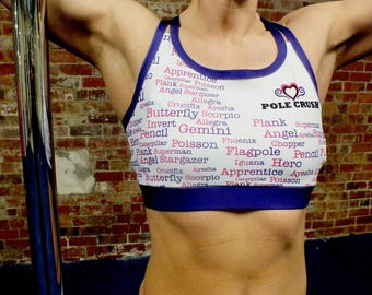 Pole Crush Crop Top for Pole Dancing/Fitness, Yoga, Gym & Running