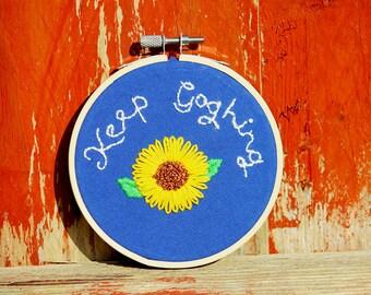 Keep Goghing Van Gogh Handmade Embroidery