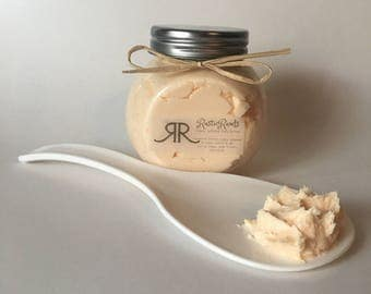 Orange cream glitter whipped body butter lotion - natural skin moisturizer - body frosting- gift/ gifts for her - free shipping