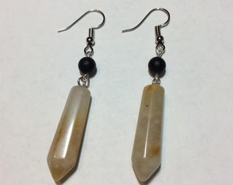 """Earrings """"Natural Agate and his natural stone"""""""