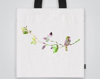 Flower Tote Bag Shoulder Bag Market Bag Art Print