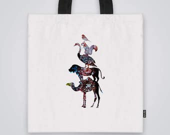 Bremen Town Musicians Tote Bag Shoulder Market Bag Art Print