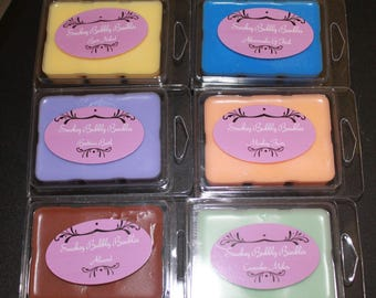 Hand Poured Soy Wax Tarts in Multiple Colors and Fragrances