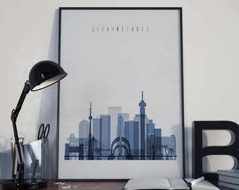 Johannesburg Art Watercolor Johannesburg City Wall Art Johannesburg Print Wall Decor Johannesburg Poster Home Decor Johannesburg Photo Print