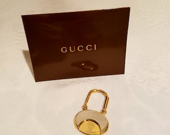 Rare Authentic Gucci Centennial Silver And Gold Plated Key Chain or Purse Charm