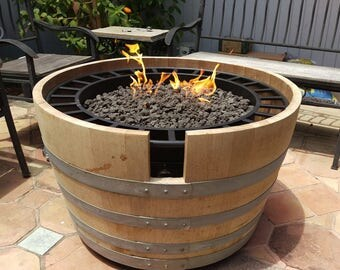 Wine Barrel Firepits