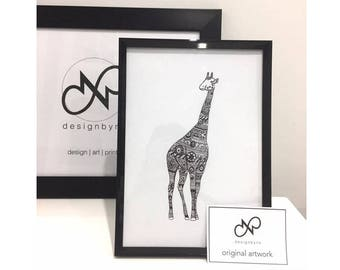 ORIGINAL ART Giraffe
