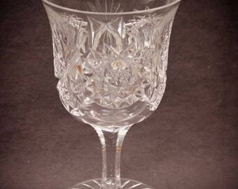 American Brilliant Period Cut Glass Wine Goblet