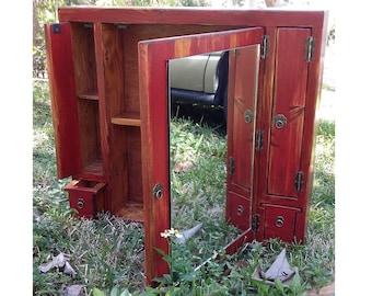 Handmade Custom Rustic Medicine Cabinet