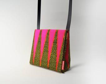 African Wax Print Mini Messenger Bag