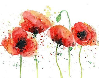 "Fine art print - ""Poppy flowers"""