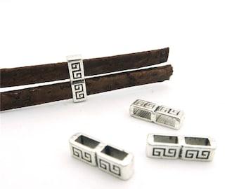 20pcs For 5mm flat leather separator slider antique sliver slider jewelry finding supplies D-1-5-16