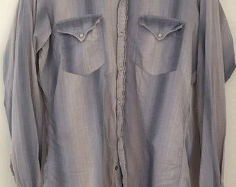 Rare Vintage Big E Levis 1960's Western Shirt Medium