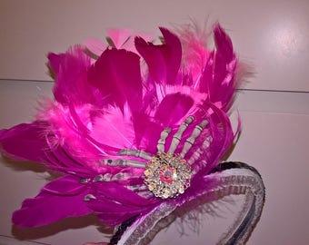 Pink Skeleton Hands Decorative Headband.