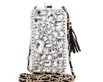 Crystal embellished perfume iPhone case