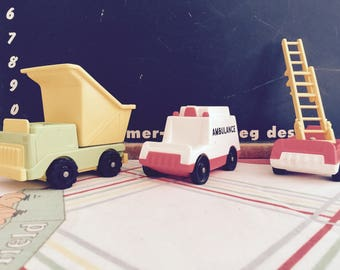 Vintage 1970s Fisher Price Little People Vehicles