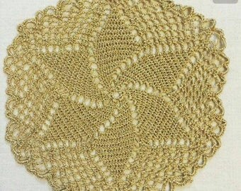 Handmade crochet doilies with different sizes and colors