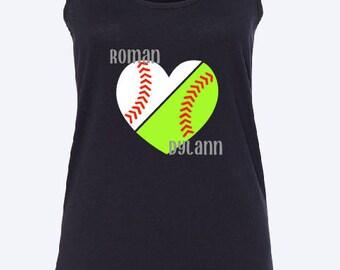 Baseball/Softball tank top | baseball tank top | softball tank top | team  mom tank top | Sports mom tank top | softball mom | baseball mom