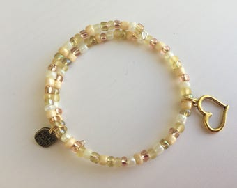Beaded heart bracelet