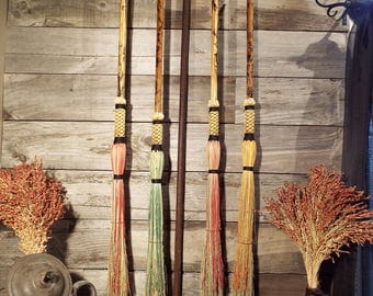 Colored Cobweb Brooms, Home decor, Harry Potter Costume accessory, witches and Wizards