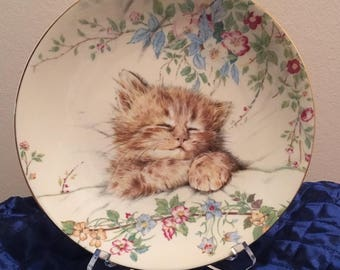 Cat Nap Kitten Classics Royal Worcester Bone China Collector Plate