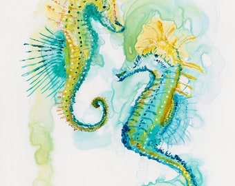 Art Print Seahorses