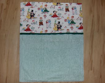 Chenille Moses Basket or Car Seat Blanket