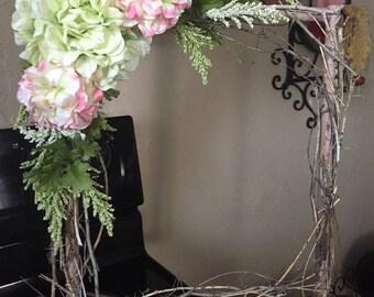Square spring wreath