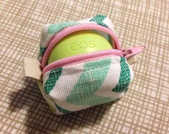 EOS lip balm zipper pouch holder