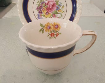 Johnson Bros Old English Vintage Cup & Saucer Duo